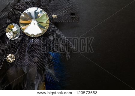 Luxury Crystal Broach Background