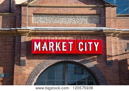 SYDNEY, AUSTRALIA - APRIL 9, 2015: Vew at Paddys Markets in Sydney Australia. Markets are specialise in the sale of fruit vegetables fish clothes and giftware
