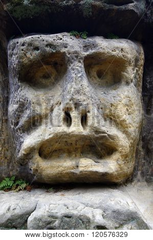 Spooky Stone Face