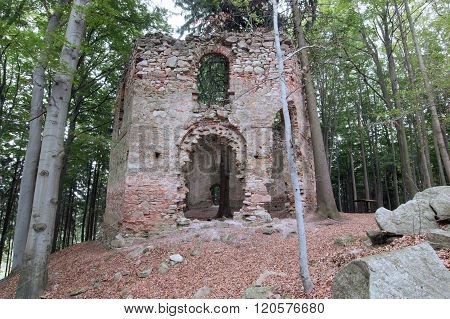 Ruins Of The Baroque Chapel Of Saint Mary Magdalene