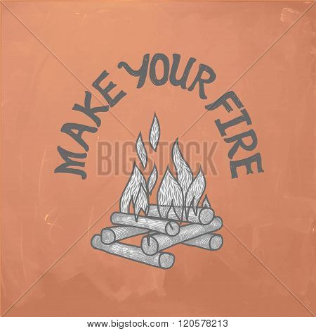 bon fire illustration