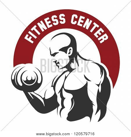 Fitness Center Or Gym Emblem