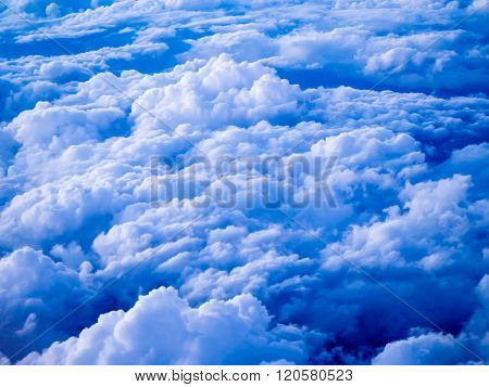 Aerial View Of Stratocumulus Clouds In The Evening