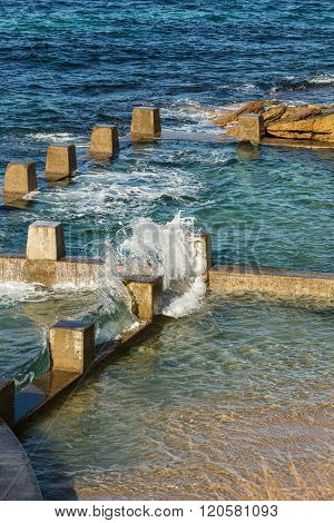 The concrete rock pool at Coogee beach Sydney