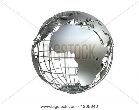 Silver Metall Globe