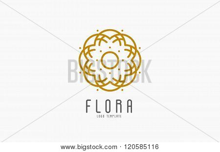 Abstract elegant flower logo icon vector design. Universal creative premium symbol. Graceful jewel v