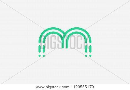 m letter logo design. line m logo. creative logo.