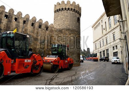 Iron horses, Baku City Circuit. Formula-1