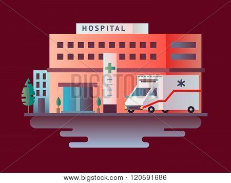Hospital building design flat