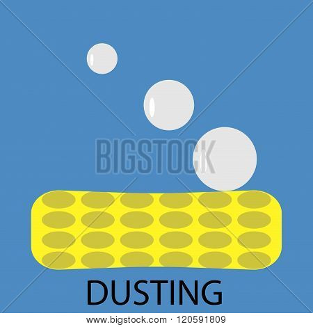 Dusting Icon Flat