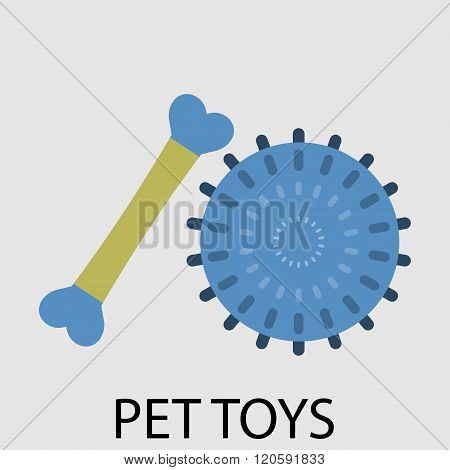 Toy Pets Ball And Bone