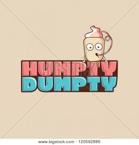 Vector logo Humpty Dumpty in a cup mascot