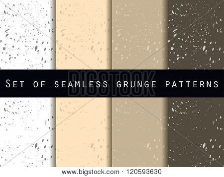 Seamless Pattern In Grunge Style. Seamless Pattern With Blots And Strokes. Set. For Wallpaper, Bed L