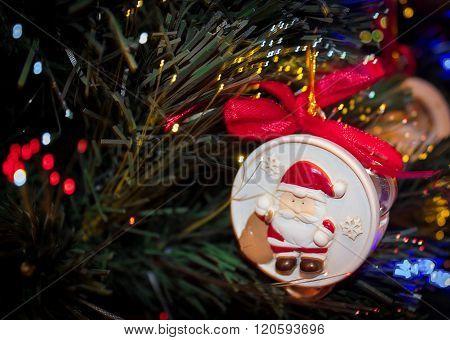 Christmas Ornaments Santa Christmas Tree