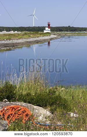 Pubnico Harbour Lighthouse in Nova Scotia Canada