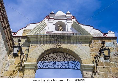 OAXACA MEXICO - NOV 02 : The Basilica of Our Lady of Solitude in Oaxaca Mexico on November 02 2015. The Basilica is part of the Historic Center of Oaxaca an UNESCO World Heritage Site since 1987