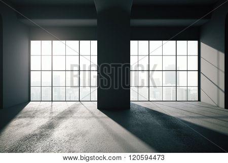 Black Loft Interior Backlit