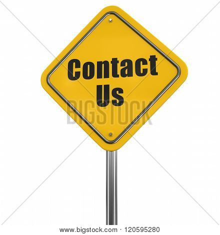 Contact Us road sign. Image with clipping path