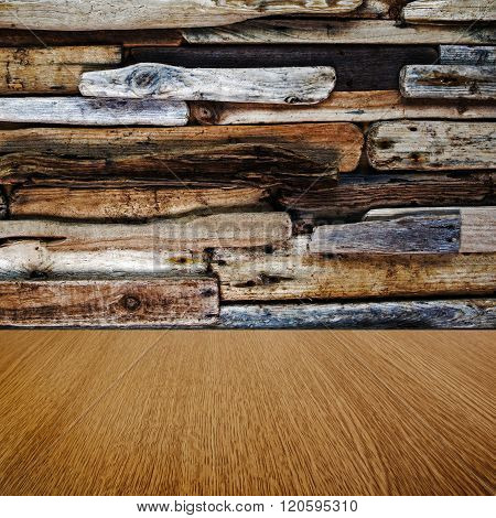 Driftwood and natural pine imaginative background texture, with business product / sales items / text space for your design.