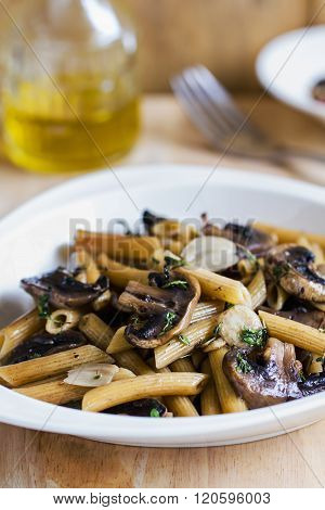 Penne With Mushroom And Herb Sauce