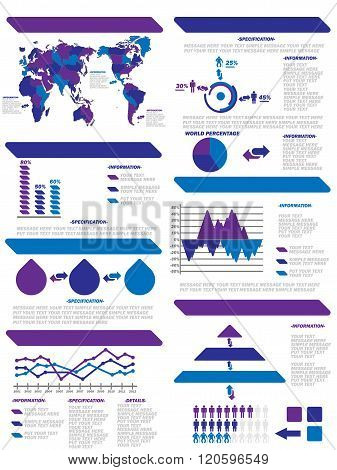 INFOGRAPHIC DEMOGRAPHIC ELEMENTS NEW PURPLE  for web and other