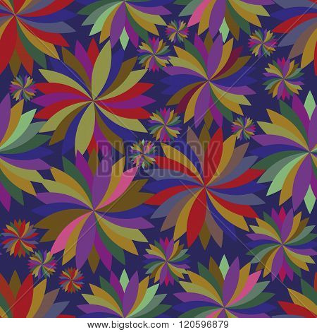 Seamless pattern with spinning tops