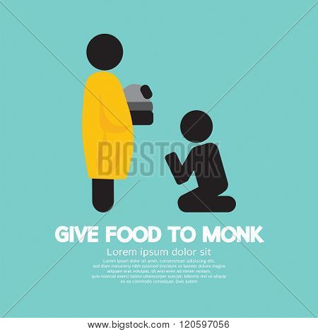 Give Alms To Monk Symbol.