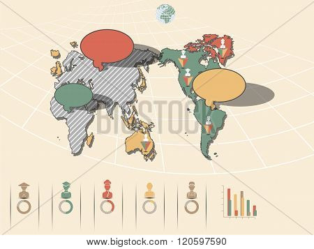 World Map Infographics 2 New Style