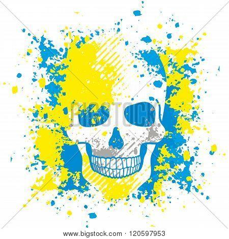 ukraine's military grunge skull coat of arms