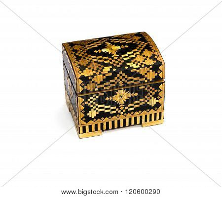 Yellow Casket In Retro Style, Isolate
