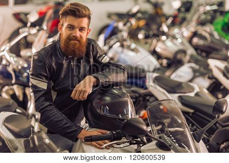 Man With Motorbike