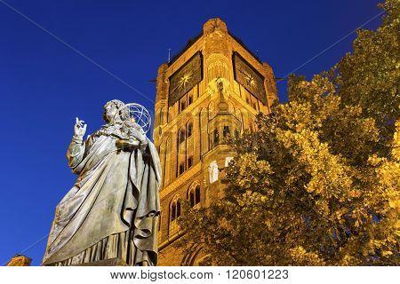 Nicolaus Copernicus Monument in Torun in Poland