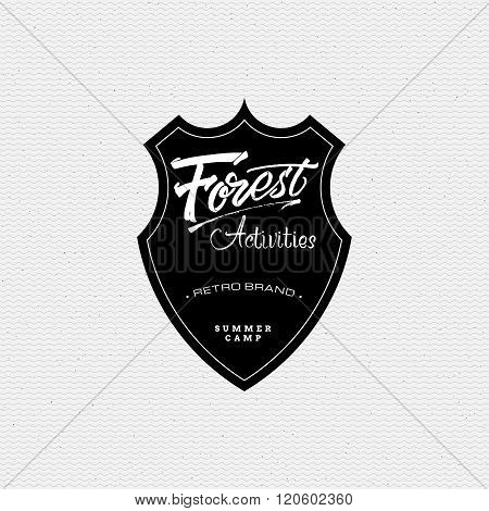 Forest Activities sign handmade differences, made using calligraphy and lettering It can be used as