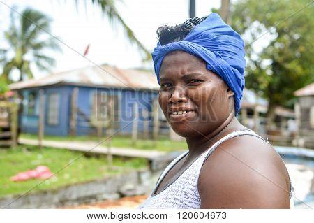 Beautiful Creole Woman, Pearl Lagoon, Nicaragua