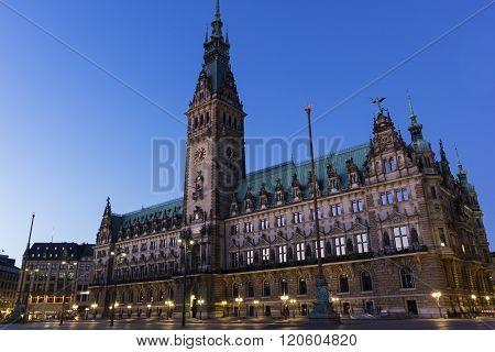 Hamburg City Hall In Germany