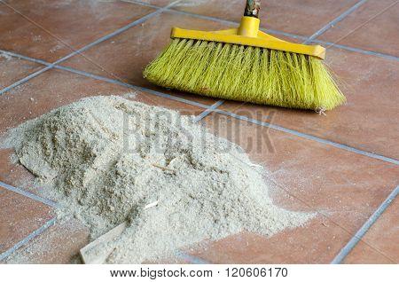 Sweeping Sawdust