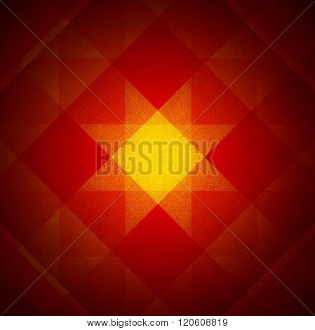 Red And Yellow Star Pattern