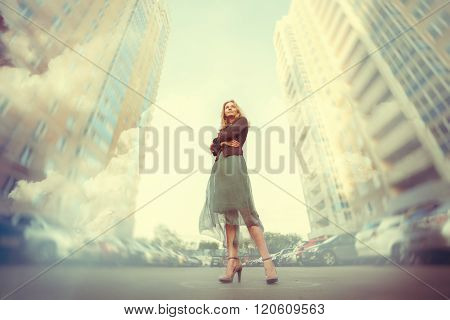 Young Woman In The Big City