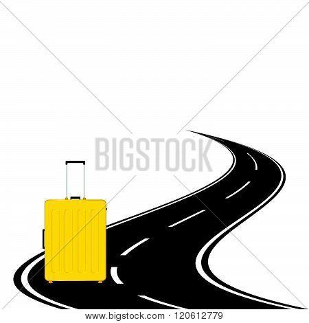 Travel Bag With Road Illustration