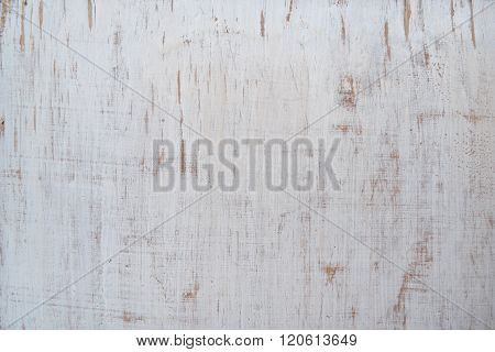 Plywood Painted White, Old, Grunge Background