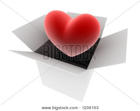 Red Heart In A Box