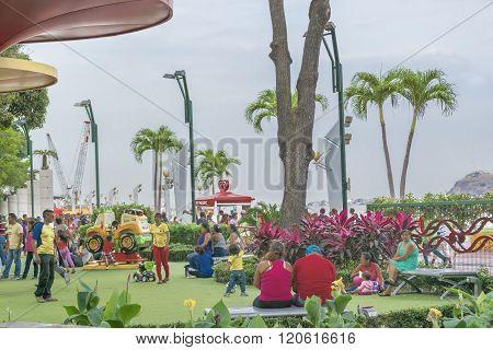 Children Park At Malecon 2000 Guayaquil Ecuador