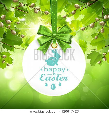 Holiday Banner on natural background. Vector