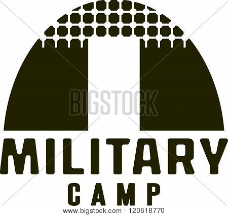 Military Tent Icon . Concept Of Graphic Clipart Work