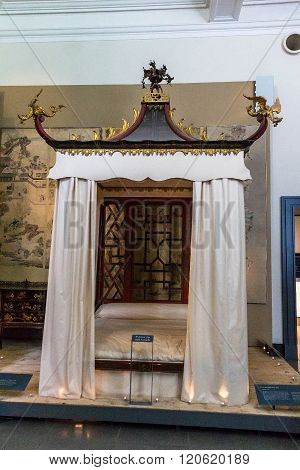 Badminton Bed By John Linnell And William Linnell, About 1754