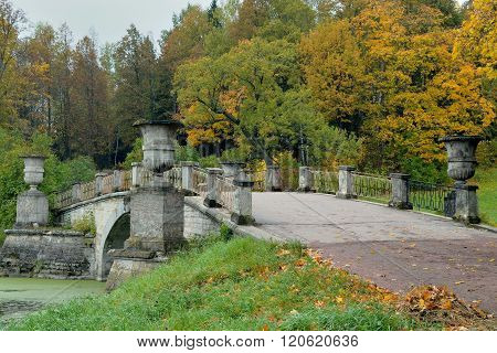 Bridge In Pavlovsk Park.