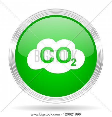 carbon dioxide green modern design web glossy icon