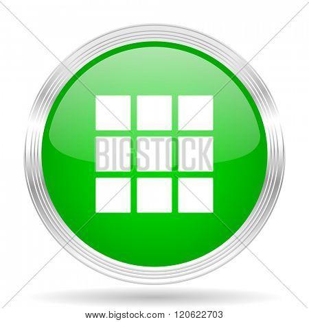 thumbnails grid green modern design web glossy icon