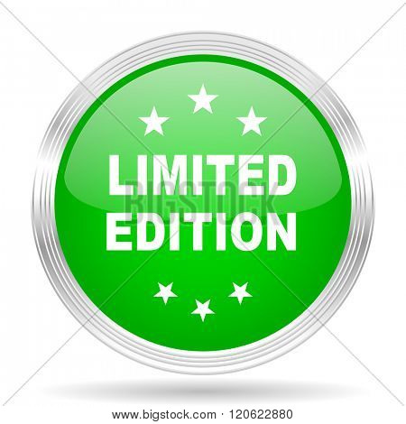 limited edition green modern design web glossy icon