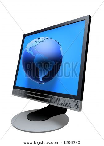 Tft Monitor With Globe